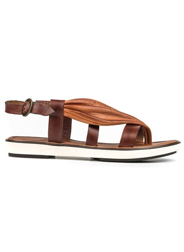 Riccardo Colli %100 Deri Sandalet